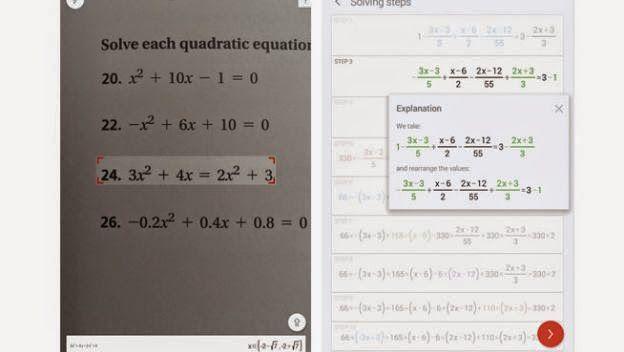 Como resolver una ecuación matematica con la camara de tu movil