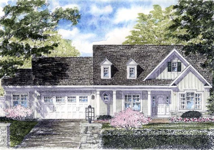 Cape Cod Colonial Cottage Country Ranch House Plan 94185