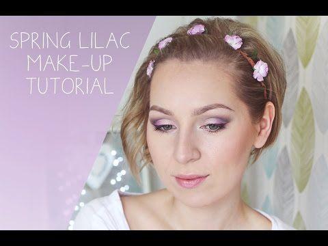 Spring lilac/ grey eye make-up tutorial • jarné fialovo (lilavo)/ šedé líčenie - YouTube