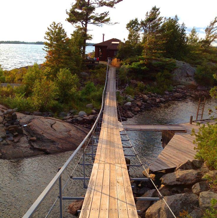 Island Cabin on Georgian Bay, Ontario, Canada.