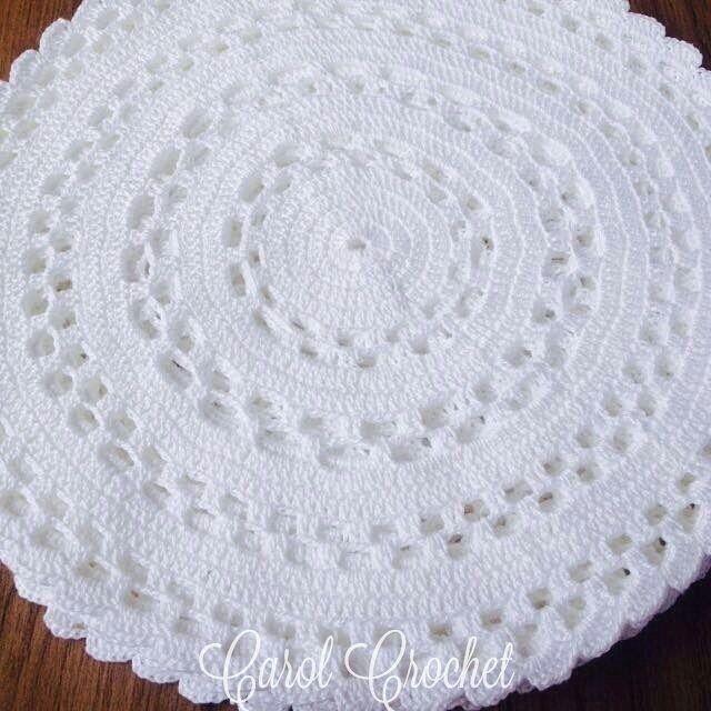 sousplat crochê linha 100% algodão