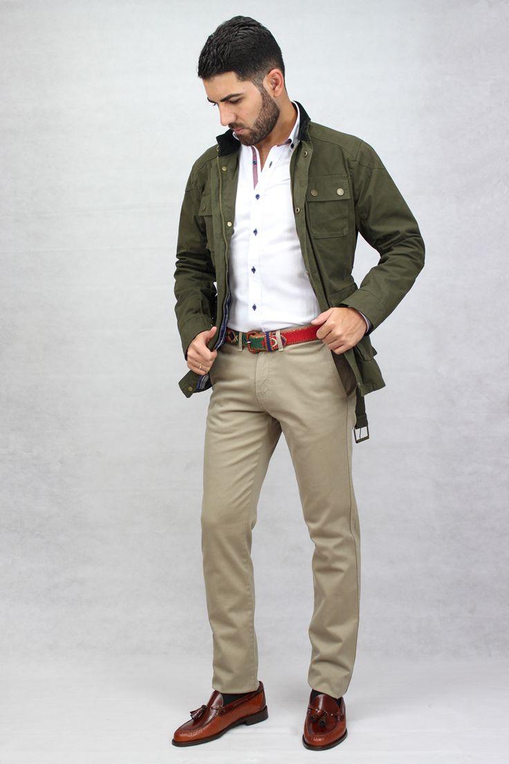 Parka Majagua verde, parka hombre, chaqueta otoñal