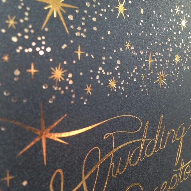 ナイトウエディング 星空の招待状 10枚 1セット