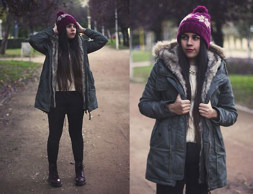 Portraits by my sister winter edition.  #Parka #Martens #Docs #DrMartens #LongHair