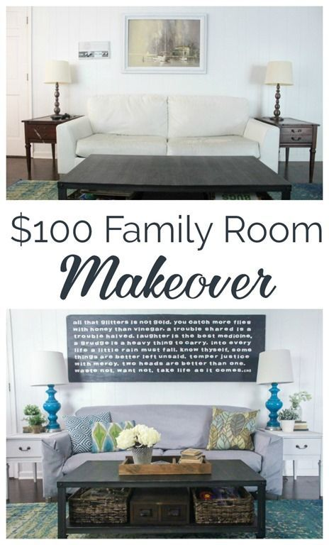 100 Family Room Makeover Reveal