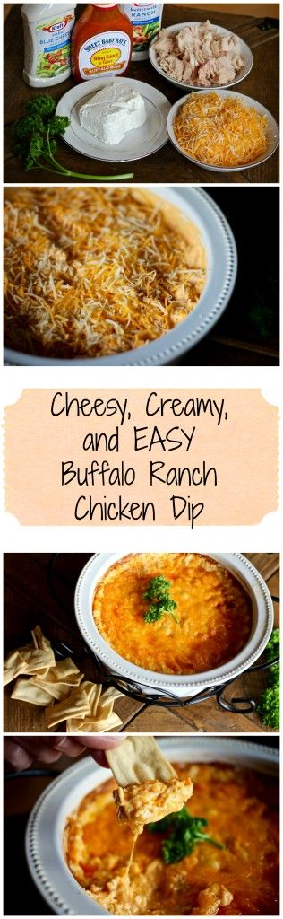 THE BEST Buffalo Ranch Chicken Dip. Absolutely delicious!