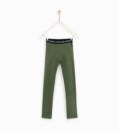 Image 2 of RIBBED LEGGINGS from Zara
