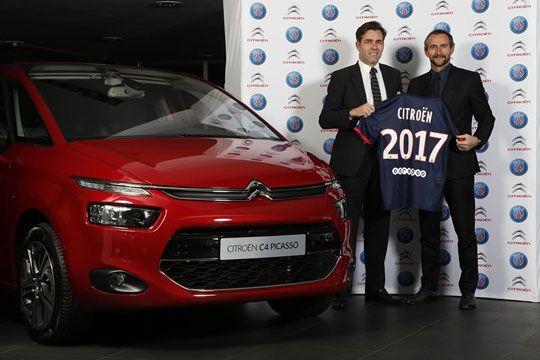Citroën renouvelle son partenariat avec le Paris Saint-Germain  http://marketing-et-communication.fr/2014/01/citroen-renouvelle-son-partenariat-avec-le-paris-saint-germain/