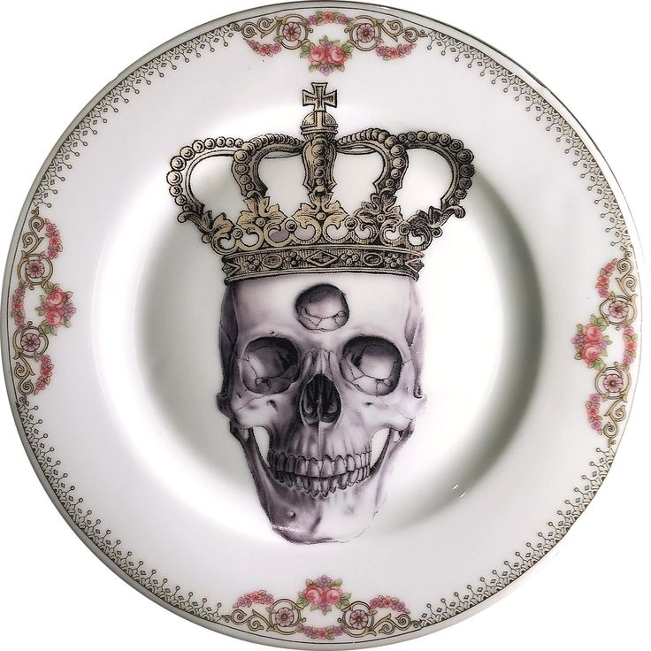 Third Eye King - Vintage Porcelain Plate - #0584 by ArtefactoStore on Etsy