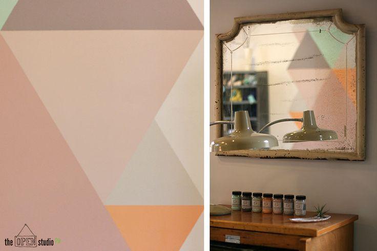 Autentico Paint - Pared pintada con motivos geométricos por The Opent Studio 79 #autenticopaintspain #autenticochalkpaint #chalkpaintes #autenticospain #autenticopaint #pinturanatural #ecofriendly #naturalpaint #chalkpaint