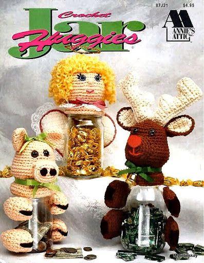 Crochet Jar huggies Вязаные Держатели для бутылок (англ) -Picasa Web Albums...FREE BOOK AND WRITTEN PATTERNS!!