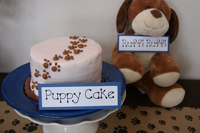 Ok Nolan's first birthday will be a puppy party ...love this for a smash cake!