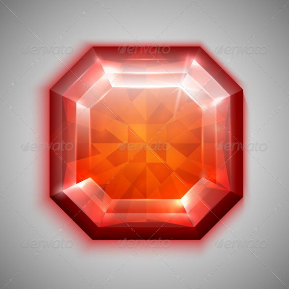 Asscher Ruby  #GraphicRiver         File version: Ai 10 EPS. File contains transparencies. No gradient mesh. Illustration of asscher cut red gemstone.     Created: 13April13 GraphicsFilesIncluded: VectorEPS Layered: No MinimumAdobeCSVersion: CS Tags: art #asscher #crystal #design #element #gem #gemstone #glow #glowing #grey #icon #illustration #isolated #jewel #jewelery #jewellery #jewelry #luxury #orange #precious #realistic #reflection #rich #ruby #shiny #sparkle #stone #treasure…