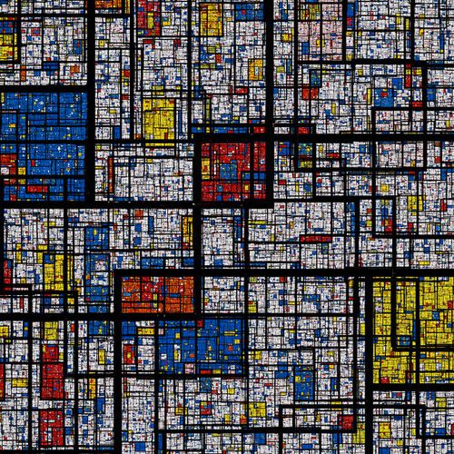 If Mandelbrot and Mondrian had a baby, it might look a little something like this / fractal Mondrian
