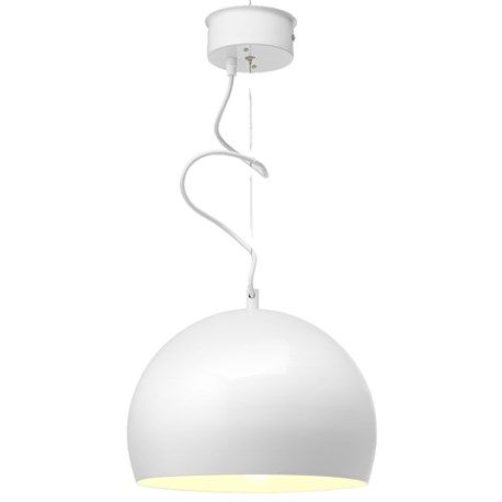 Klotformad lampa med ett mycket stilrent formspråk.