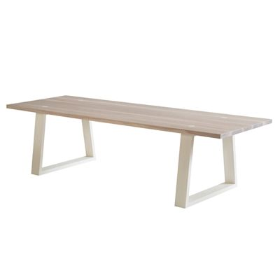 MARK TUCKEY locator light dining table. lime wash top with a painted base - options of different coloured bases. made up in american ash this table is oh so very affordable, go on.......you know you want one. also available as locator dark.