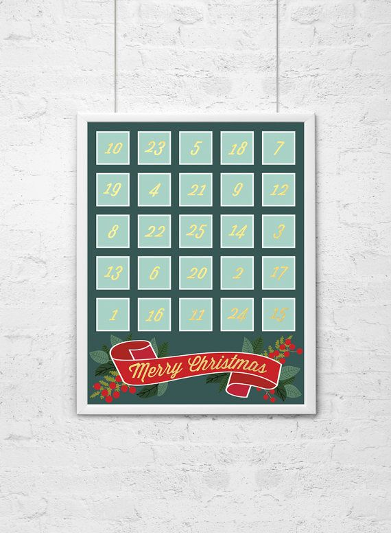 Print Your Own Advent Calendar with Family Activities by DaydrifterDigital, $8.00