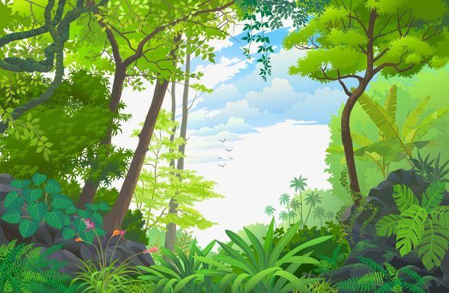 Forest Forest Vector Beautiful Scenery Png Transparent Clipart Image And Psd File For Free Download Pemandangan Khayalan Mural Pemandangan