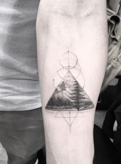 Triangular landscape piece by Doctor Woo