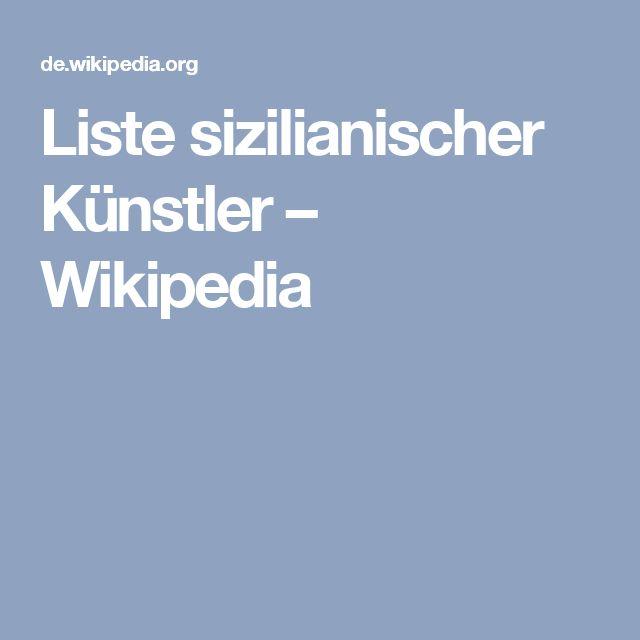Liste sizilianischer Künstler – Wikipedia