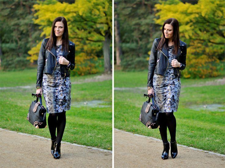 Addicted to Fashion - nasza wężowa sukienka!  #moda #blogerka #snakeprint #stylizacje