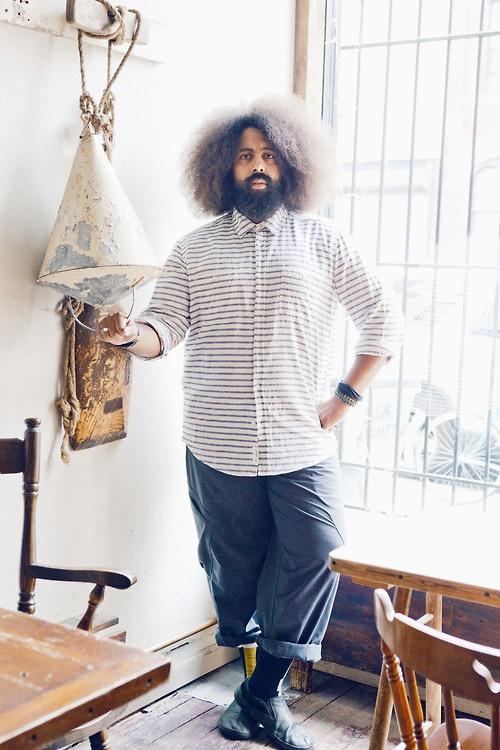 Reggie Watts Natural hair on a man :D