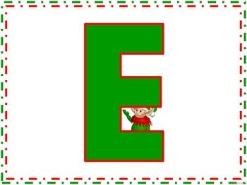 CHRISTMAS ELF SONG AND POSTERS E-L-F-I-E WAS HIS NAME-O Introduce the song using the song poster. Pass the letter cards out and have the students participate with the singing. #elf
