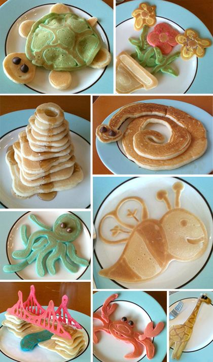 .: Pancakes Fun, Fun Food, Funfood, For Kids, Pancakes Ideas, Foodart, Food Art, Kids Food, Pancakes Art
