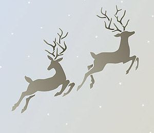 Little Reindeer Stencil - so pretty! £14.00