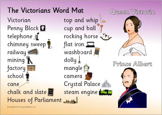 Victorians word mat (SB6239) - SparkleBox