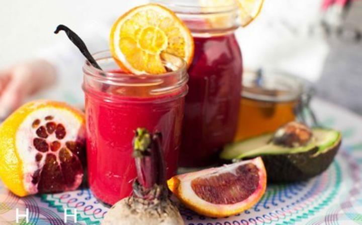 Hemsley Hemsley beetroot and blood orange smoothie