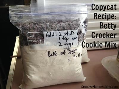 If you like the ease and convenience of store-bought cookie mixes, then you will love these homemade cookie mixes. They taste just like the ones from Betty Crocker, and they are much more inexpensive and do not contain any additives or preservatives.