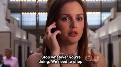 Stop whatever you´re doing. We need to shop.