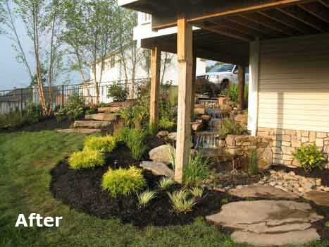 Lovely Planting Areas Under Deck Post(s)