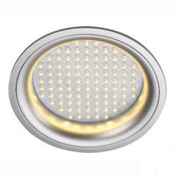 LEDPANEL ROUND, Deckeneinbauleuchte, silbergrau, 97 LED, weiss / LED24-LED Shop