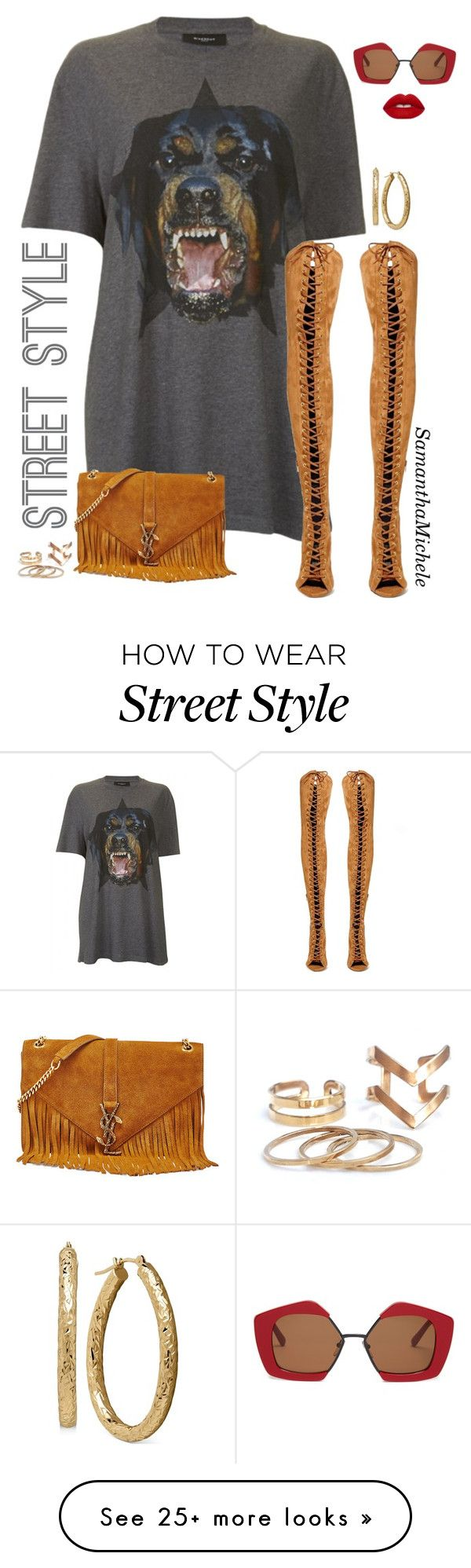 """""""Untitled #367"""" by samanthamichele on Polyvore featuring Givenchy, Jeffrey…"""