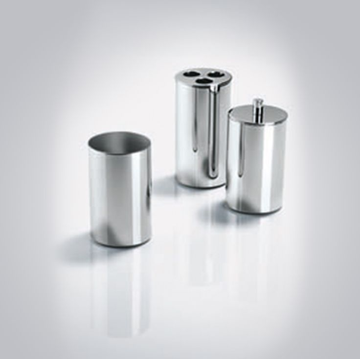 Tube Container with Lid - Chrome. Order one now at $74.00. FREE Shipping Australia.