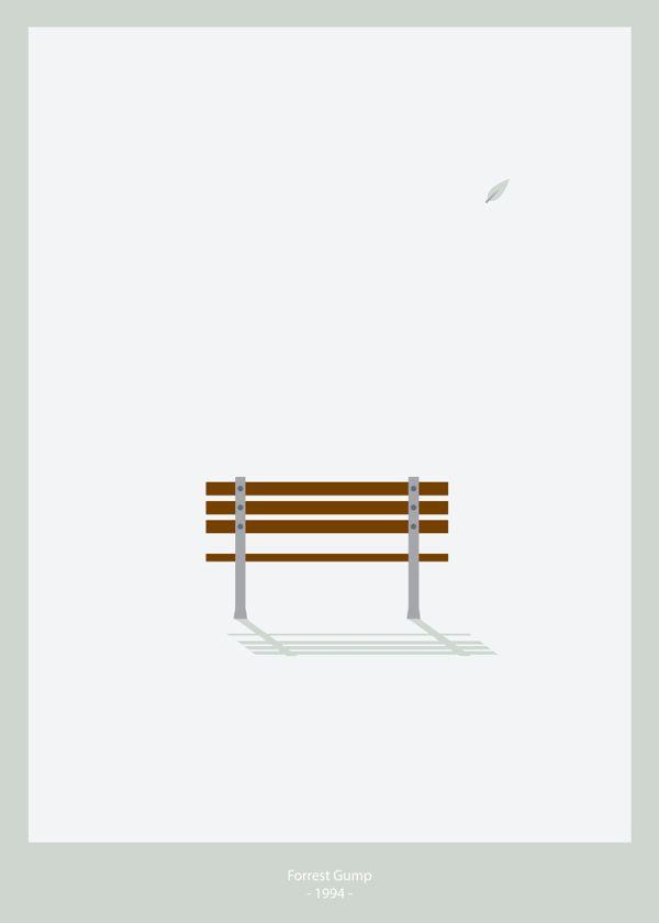 Forrest Gump (1994) ~ Minimal Movie Poster by Daniel Soto #amusementphile