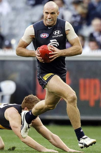 Chris Judd - Fit freak runs almost 35 km during 1 game.
