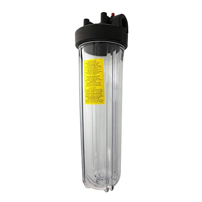 Watts 20 Big Clear Whole House Water Filter Housing Review Whole House Water Filter Water Filter Cartridge Water Filter
