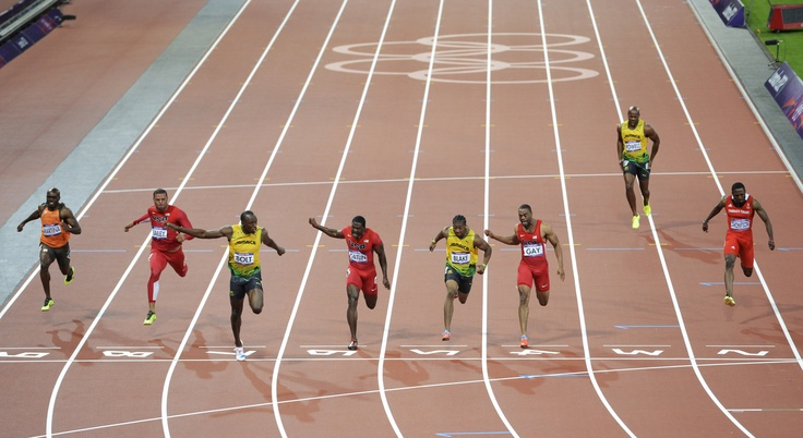 100m OR (9.63) @ the London Olympics 2012