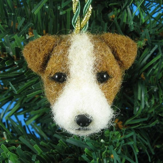 Jack Russell Terrier Ornament  Needle Felted Jack by KaysK9s, $35.00