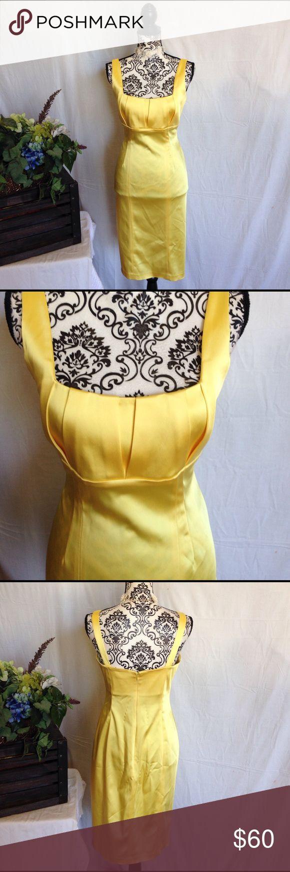 Calvin Klein Yellow Stretch Satin Midi Dress Size 6. Calvin Klein. Stretch satin. No flaws. Free gift. New without tags Calvin Klein Dresses Midi