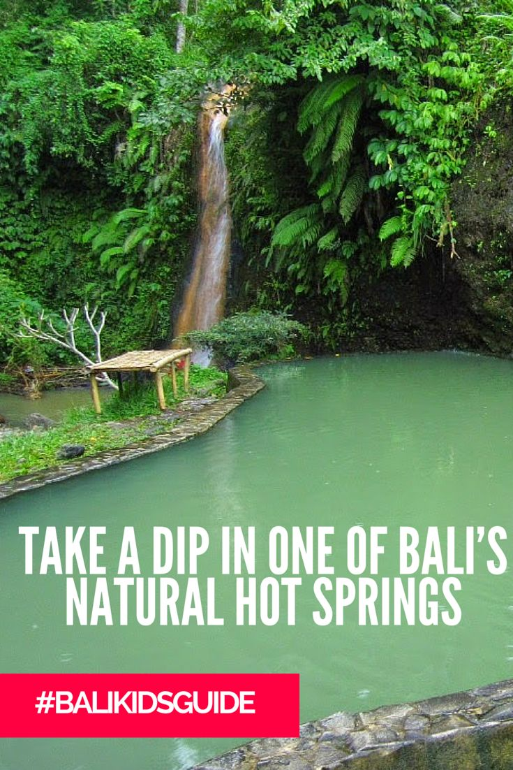 Take a break from the beach & head to one of Bali's natural hot springs!