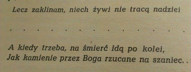 Kamienie na szaniec - one of best books I have ever read.