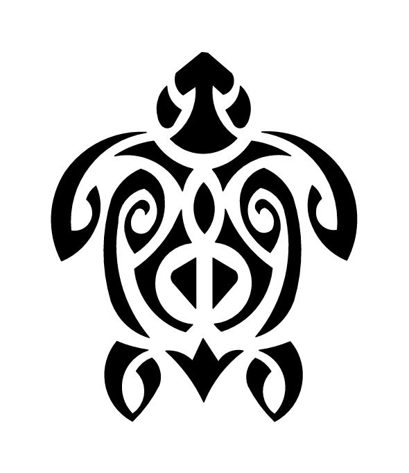 Pochoir tatouage temporaire Tortue Polynésienne - tri 67