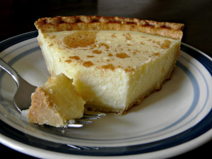 Cottage Cheese Pie.    This takes me right back to my grandma's.  She used to make this and it is so yummy! Inexpensive and one of my favorite pies!