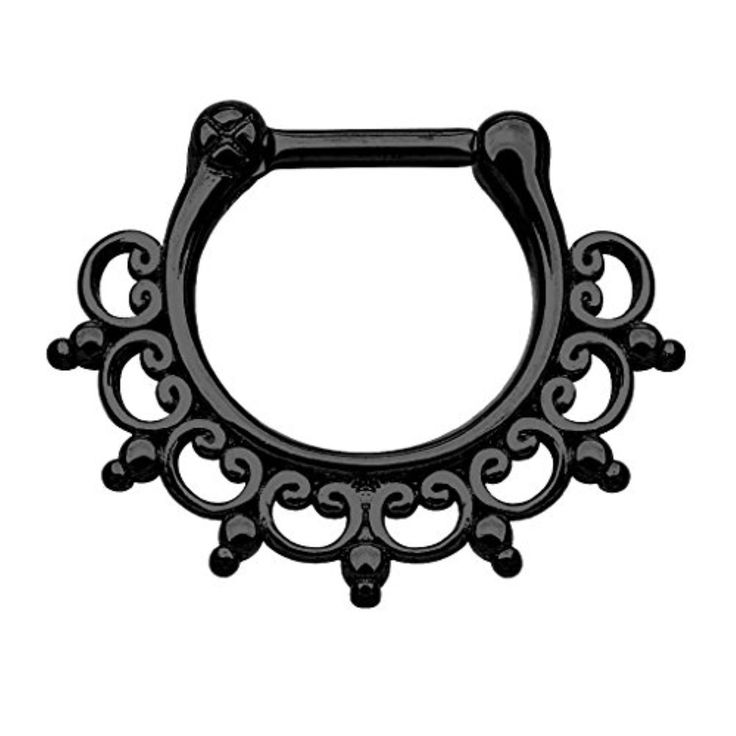 Best 25 Black Nose Ring Ideas On Pinterest Face