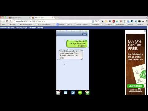 how to create fake text messages