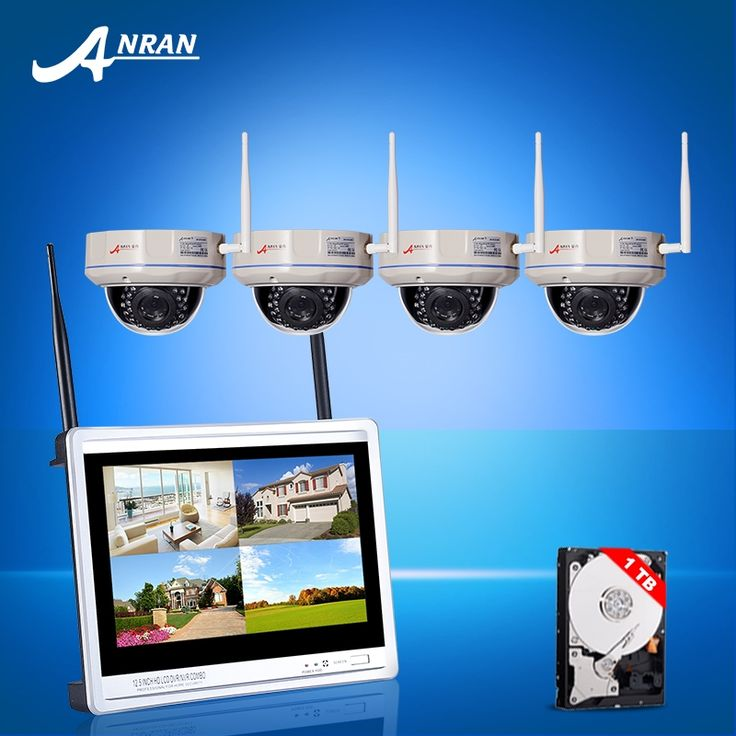 (331.28$)  Know more - http://aiymd.worlditems.win/all/product.php?id=32802005876 - Plug And Play 12inch Screen Wireless CCTV System 4CH HDMI NVR Kit 720PHD Fixed Dome Weatherproof Security WIFI IP Camera 1TB HDD